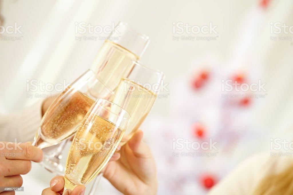Holiday toast stock photo