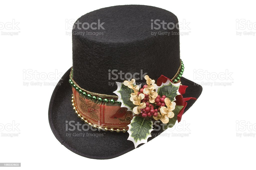 Holiday Top Hat stock photo