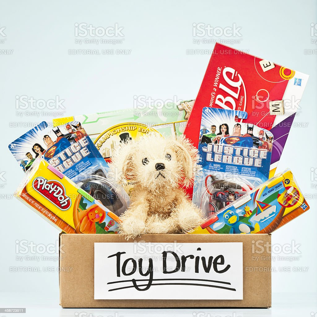Holiday Toy Drive royalty-free stock photo