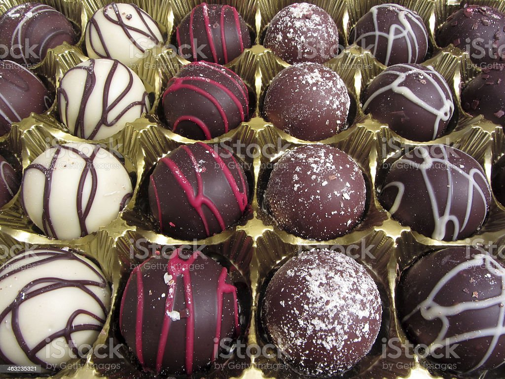 Holiday Truffles stock photo