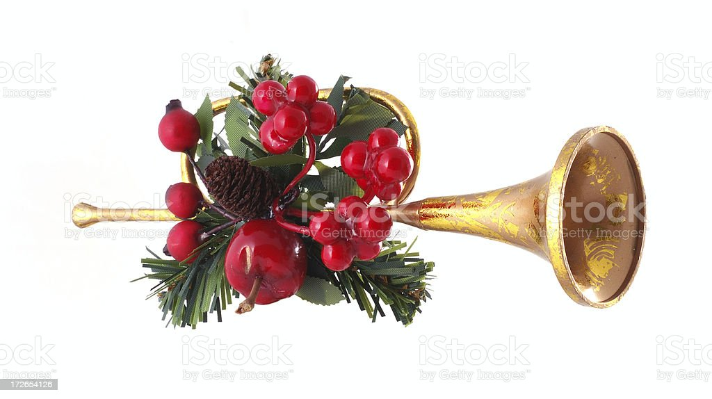 holiday trumpet deco motif royalty-free stock photo