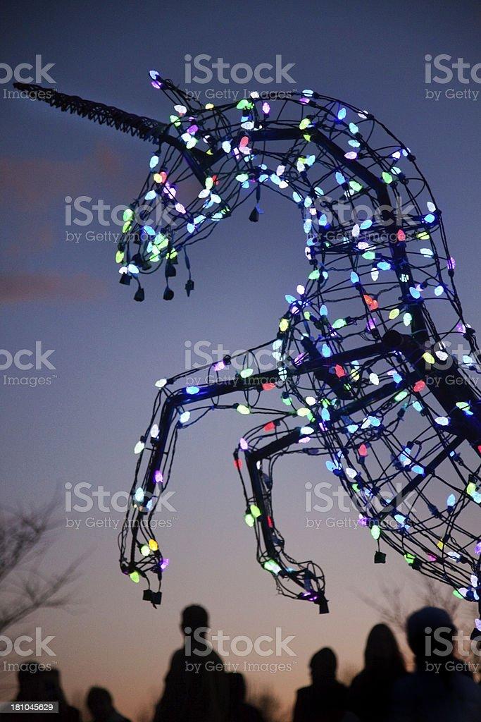 Holiday Unicorn royalty-free stock photo