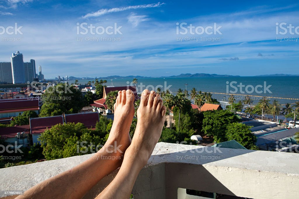 Holiday view by foot stock photo