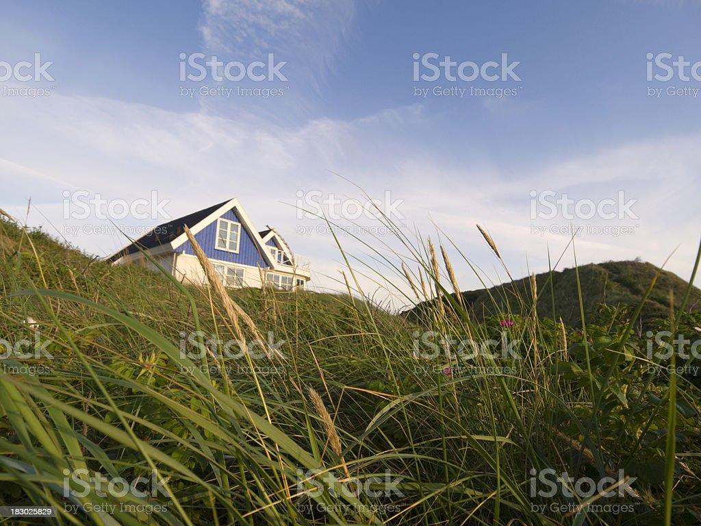 Holiday villa in Jutland, Denmark stock photo