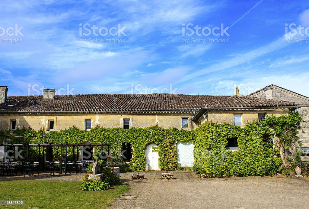 Holiday villa in the French countryside stock photo
