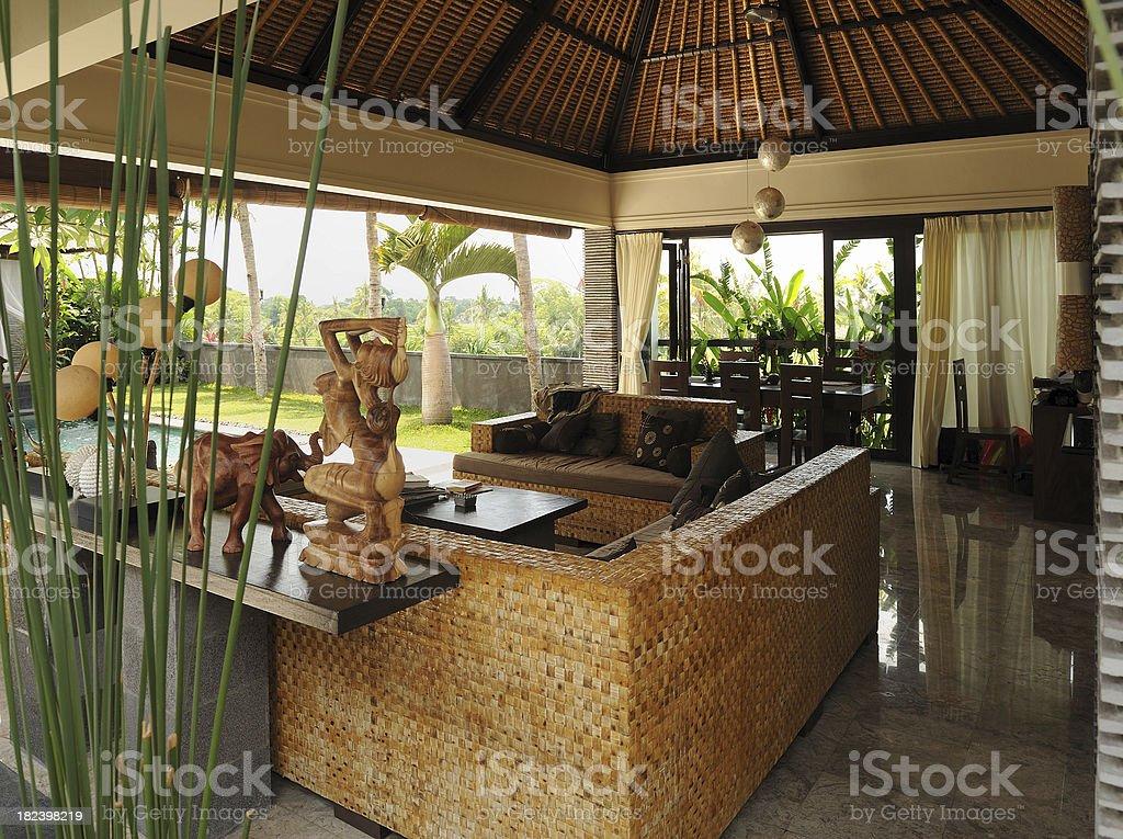 Holiday villa interior royalty-free stock photo