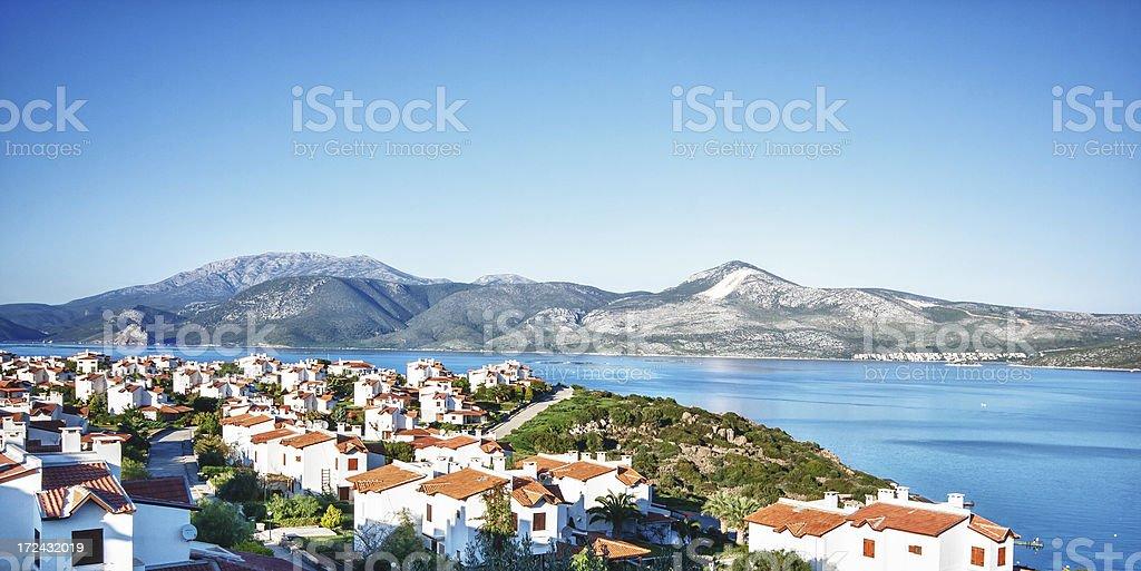 Holiday villa with sea views royalty-free stock photo