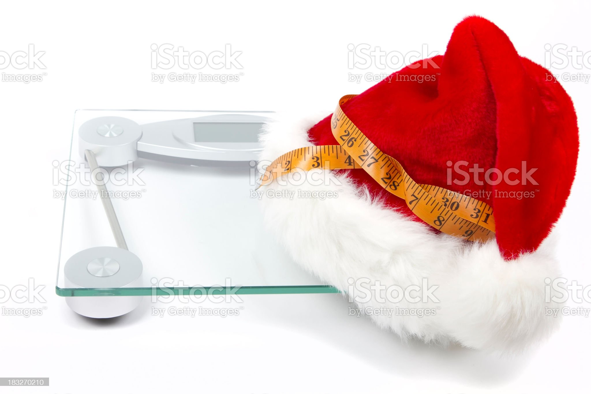 Holiday Weight Management royalty-free stock photo
