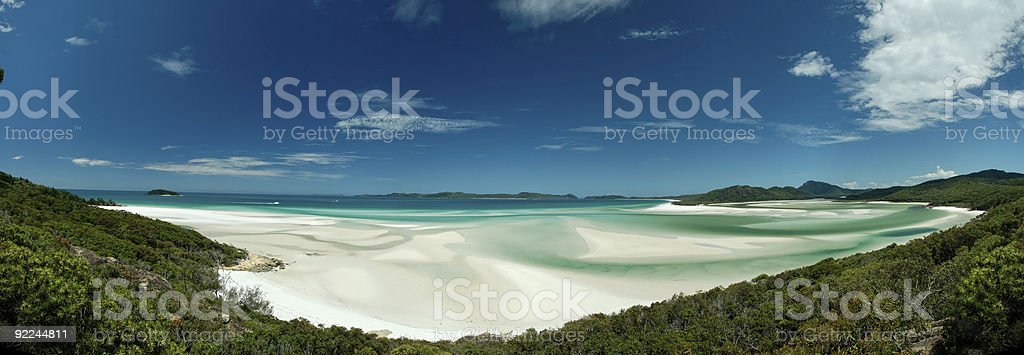Holiday Whitehaven beach royalty-free stock photo