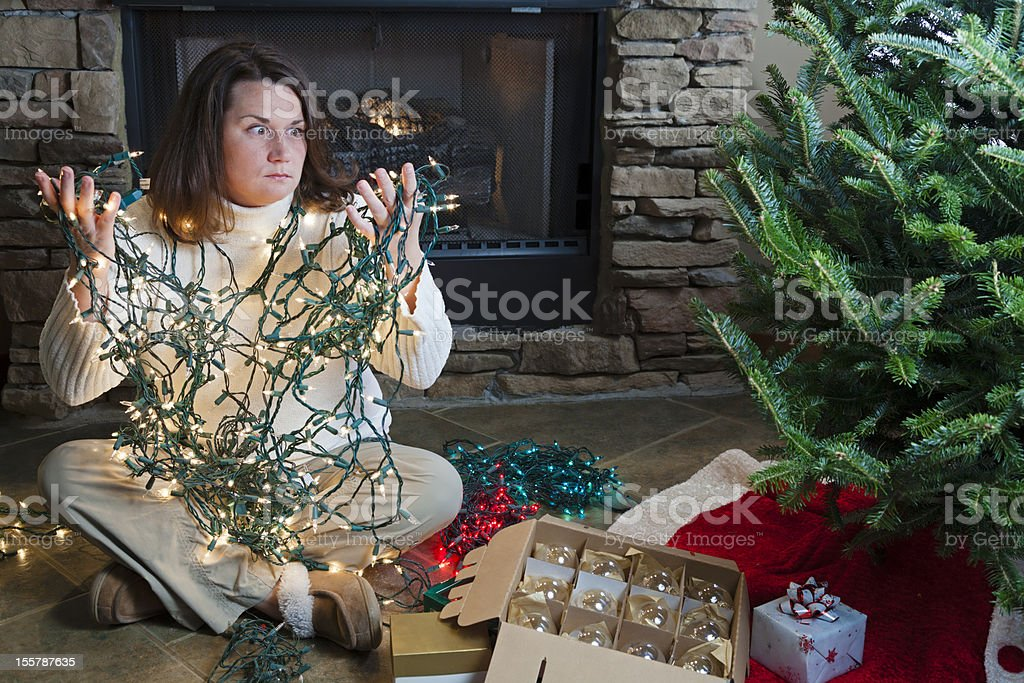 Holiday woes royalty-free stock photo