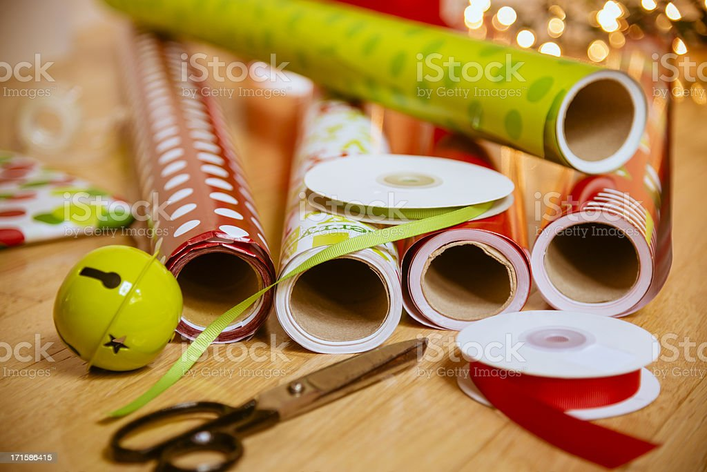 Holiday Wrapping Horizontal royalty-free stock photo