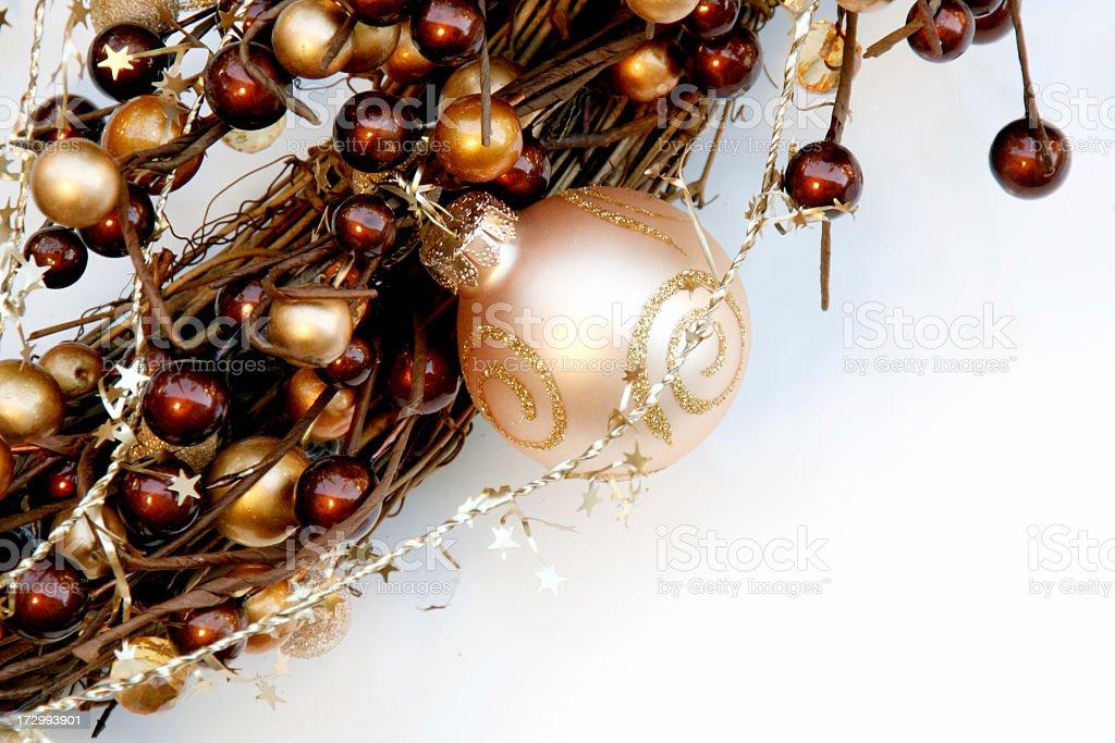 Holiday Wreath Close Up royalty-free stock photo