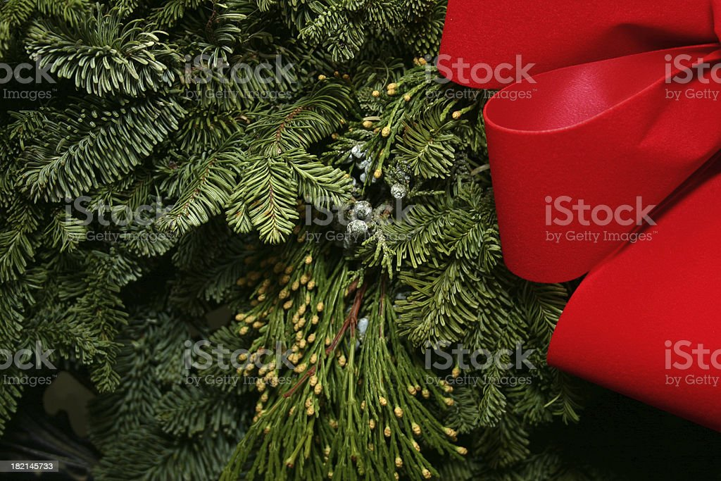 Holiday Wreath royalty-free stock photo