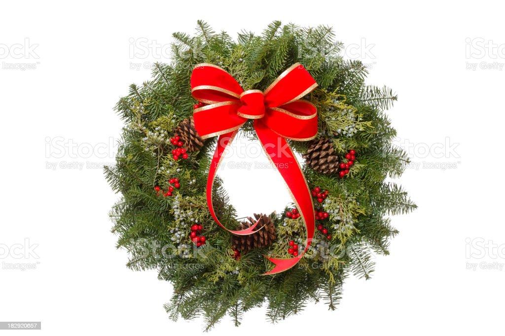 Holiday Wreath stock photo