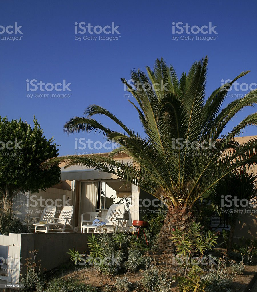 Holidayhouse at sunset royalty-free stock photo