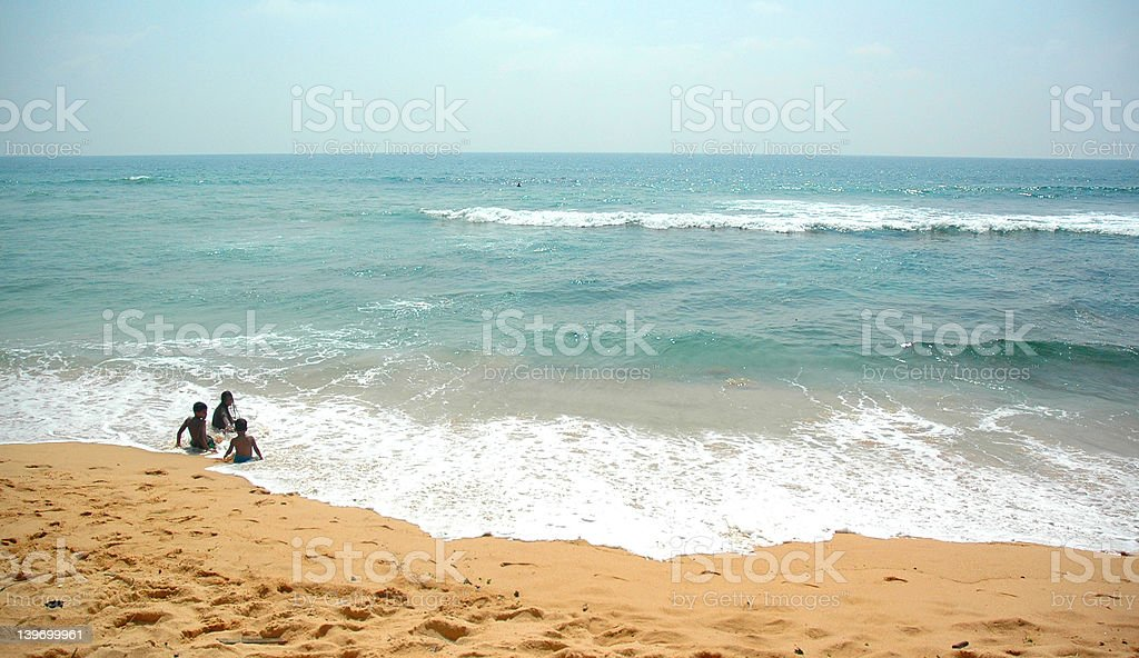 Holidaying in Hikkaduwa Beach, Sri Lanka royalty-free stock photo