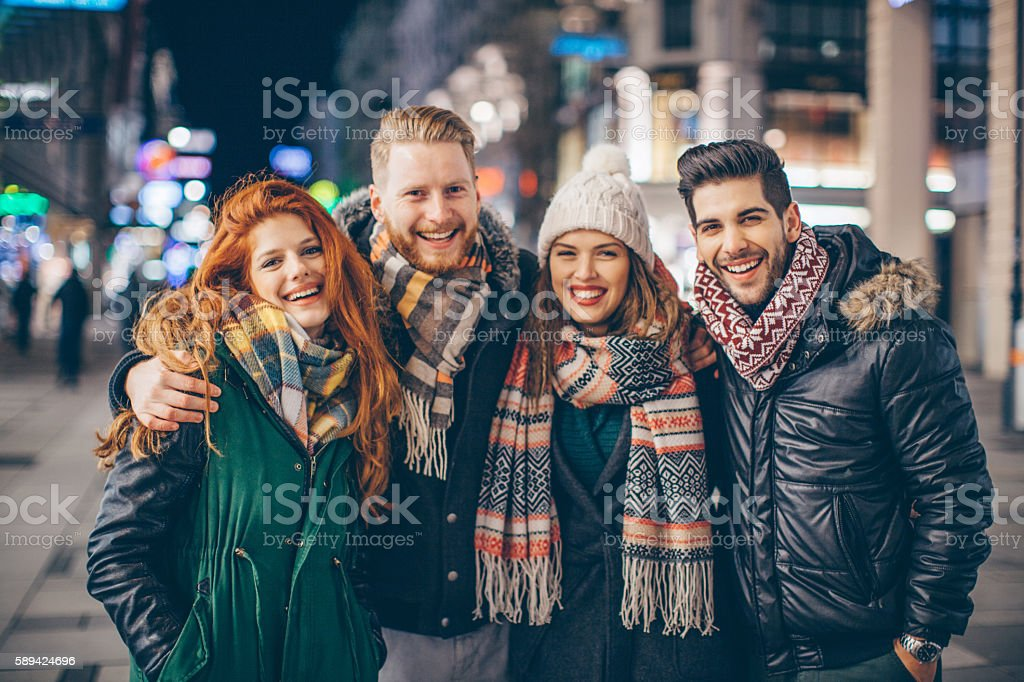 Holidays are better with friends stock photo