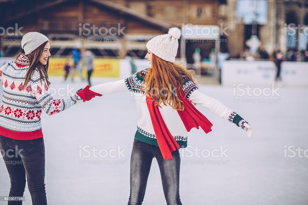 Holidays are for fun with friend stock photo