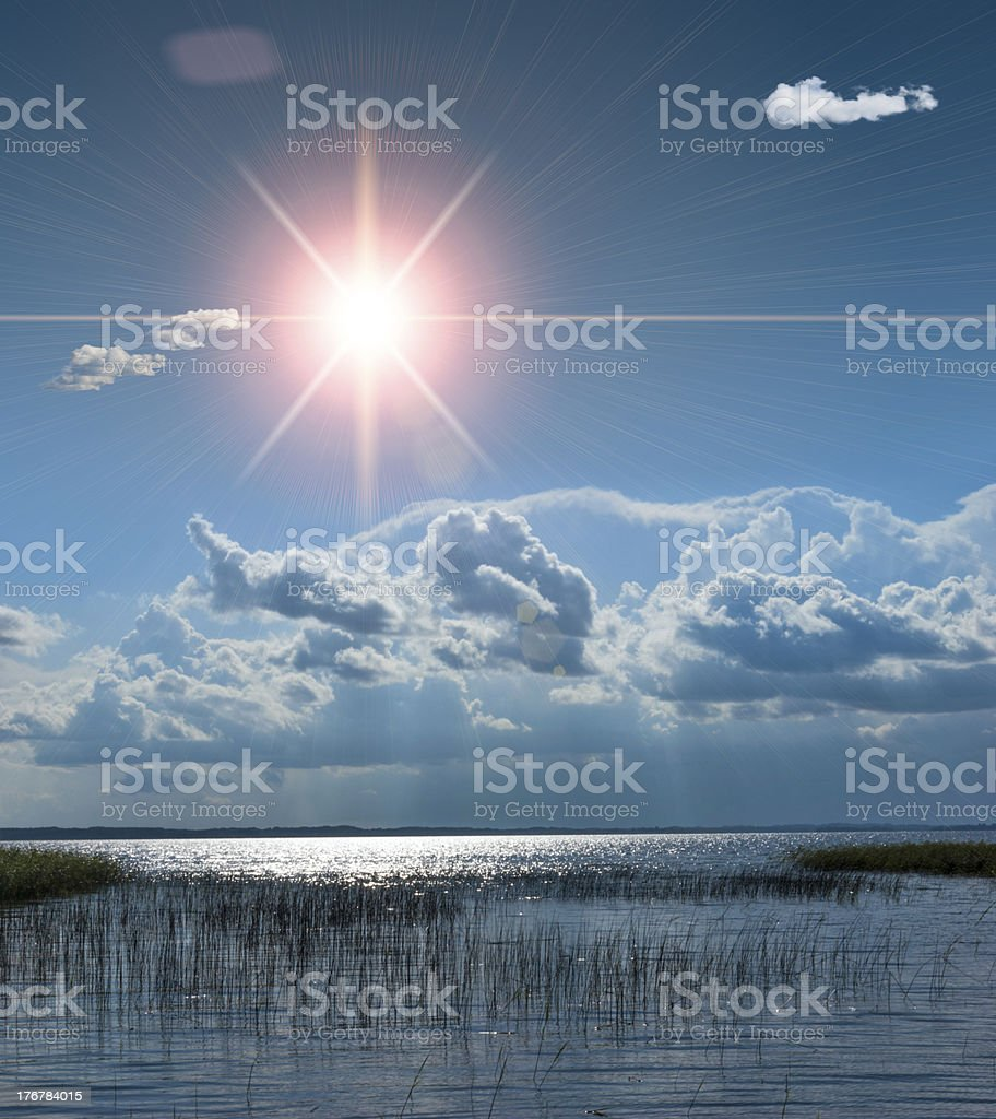 Holidays at the lake in Europe royalty-free stock photo