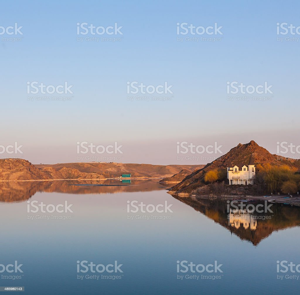 Holidays at the lake, where peace and quiet royalty-free stock photo