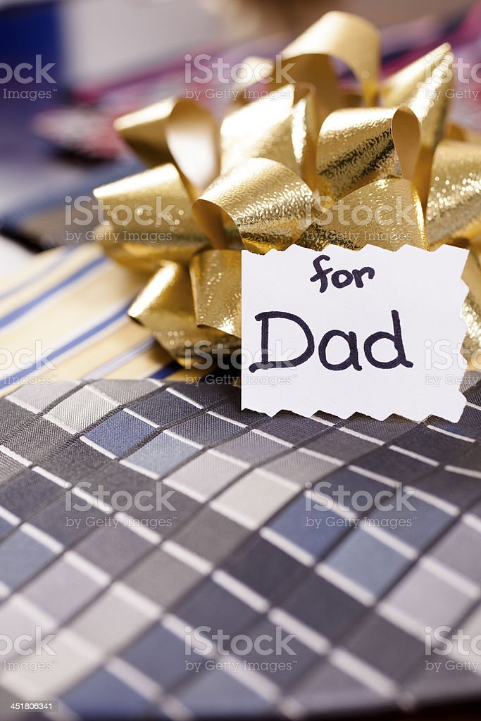 Holidays:  Father's Day or Christmas gift for dad. stock photo