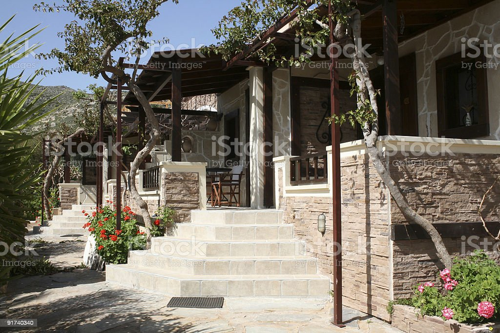 Holidays houses - Crete royalty-free stock photo