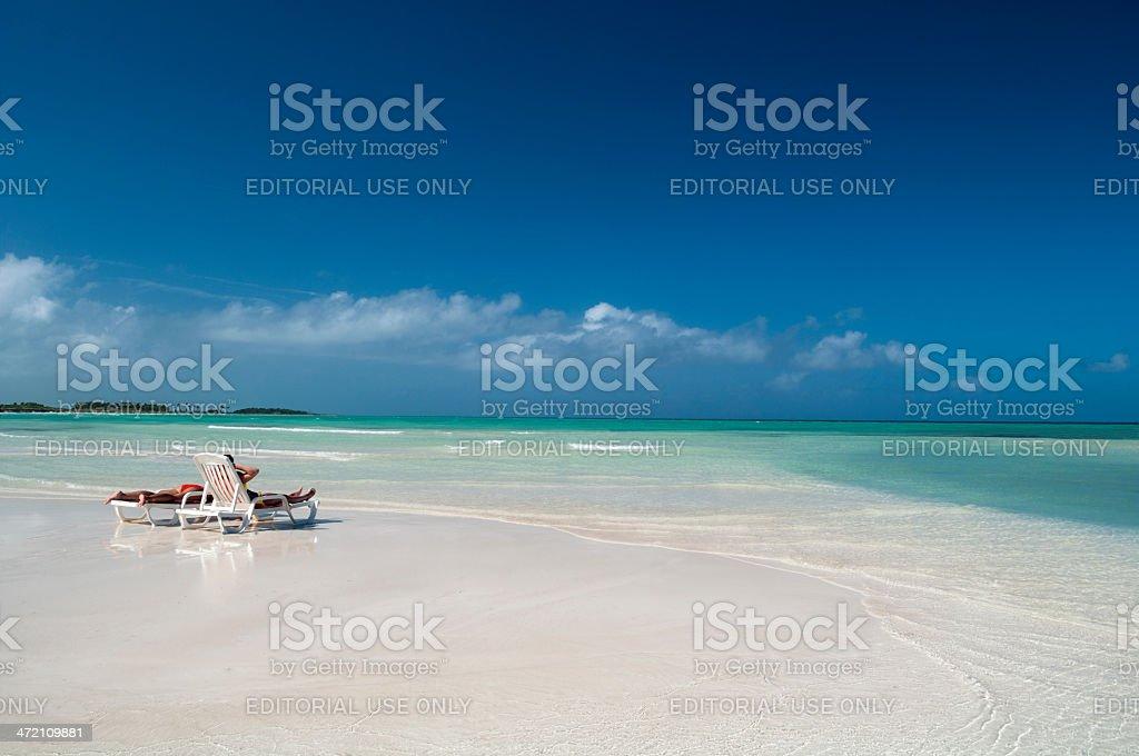 Holidays in a Caribbean beach stock photo