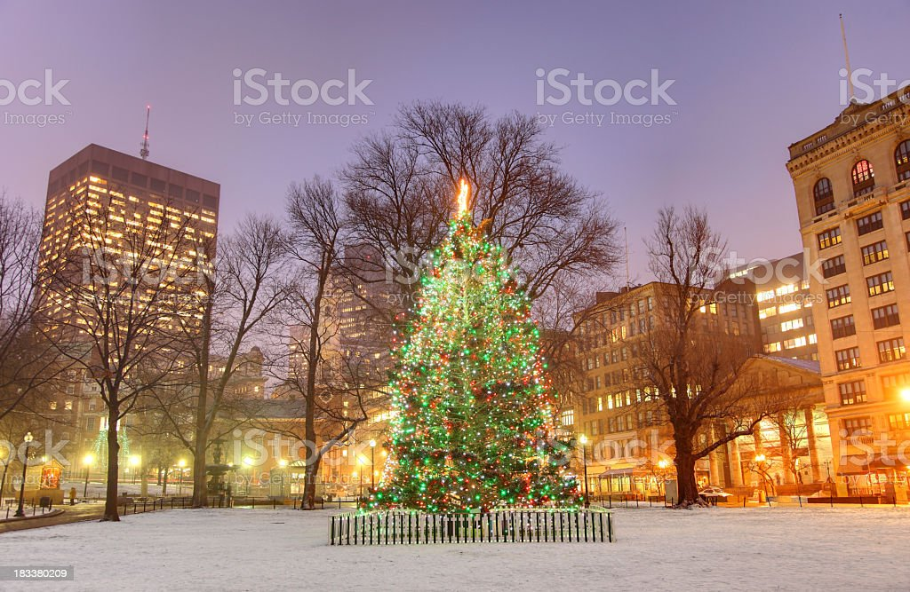 Holidays in Boston royalty-free stock photo