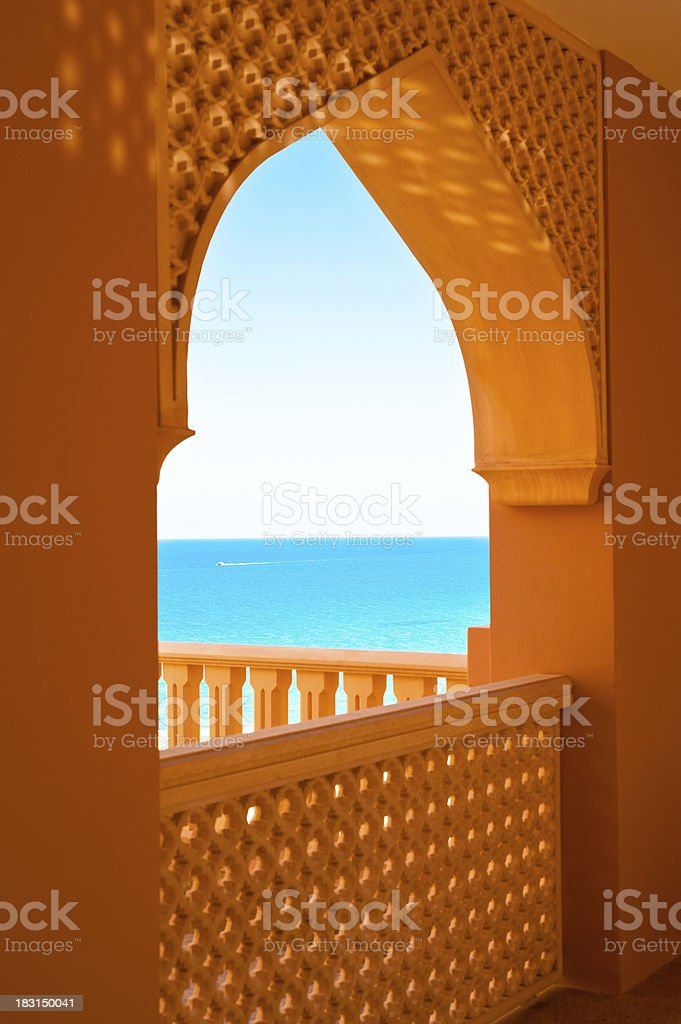 Holidays in Oman stock photo