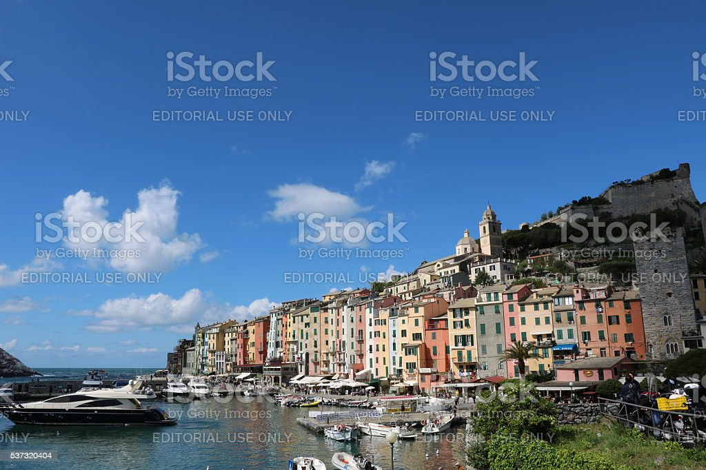 Holidays in Porto Venere at the Ligurian sea in Italy stock photo