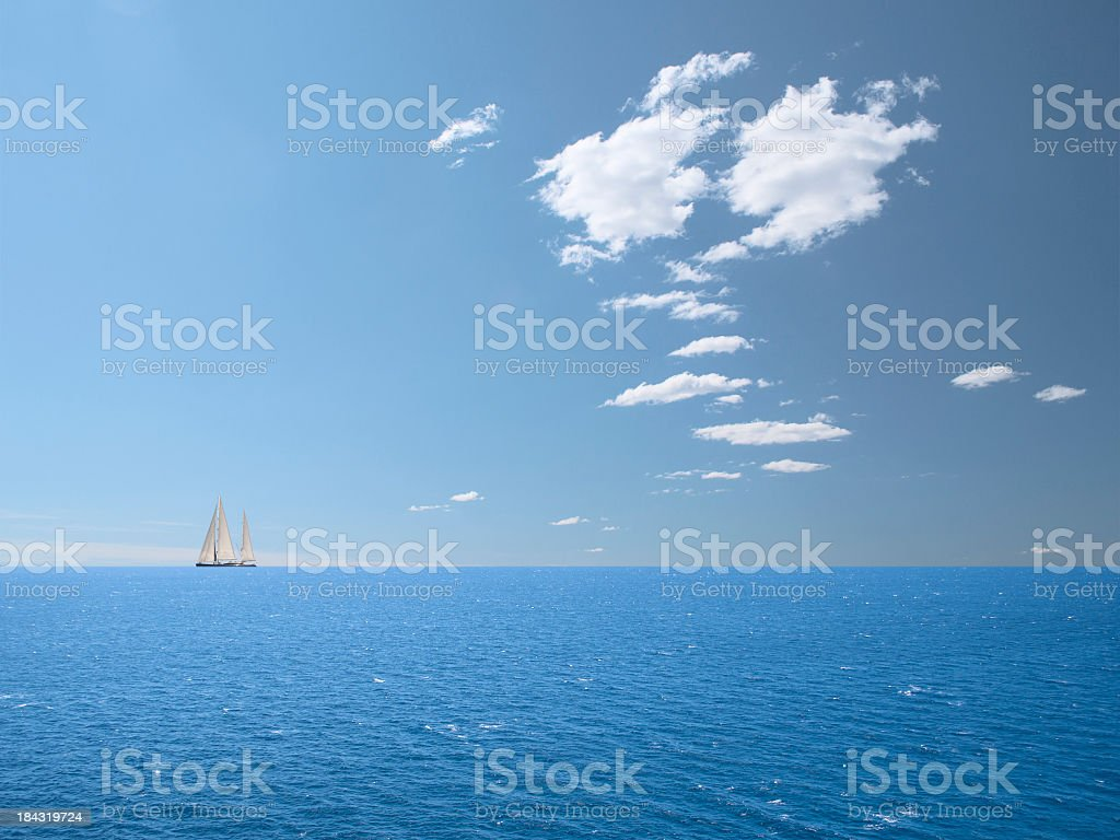 Holidays in Sailboat stock photo