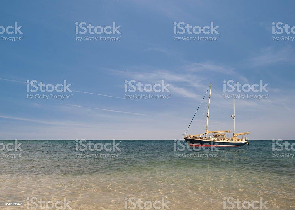 Holidays in Sailboat stock photo