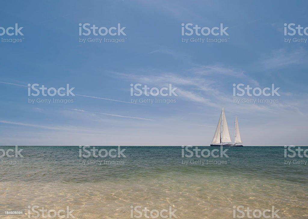 Holidays in Sailboat royalty-free stock photo