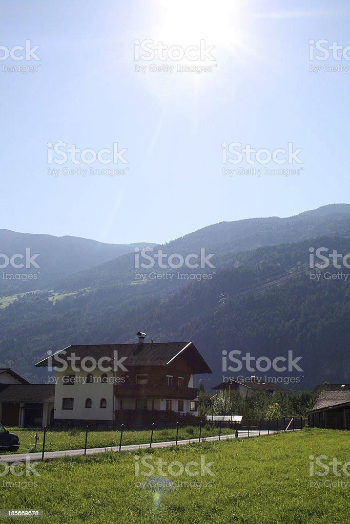 holidays in the Alps royalty-free stock photo