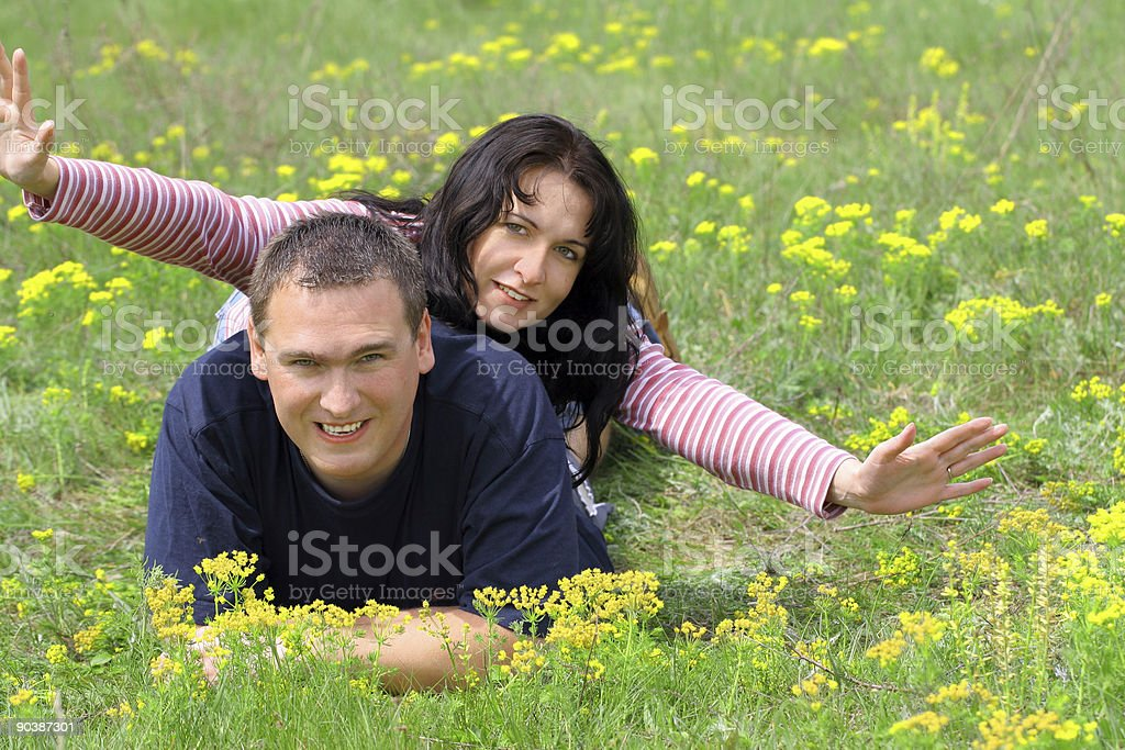 Holidays In The Grass royalty-free stock photo