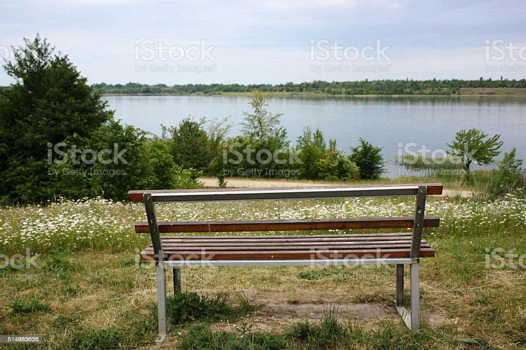 Holidays on Schladitzer lake near Leipzig, Germany stock photo