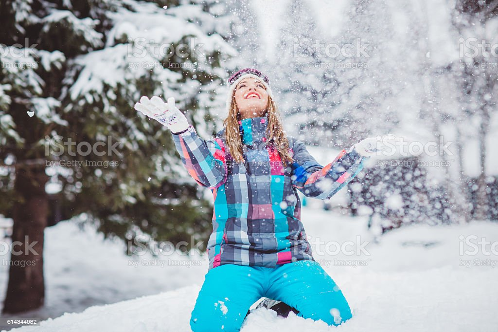 Holidays on snow stock photo