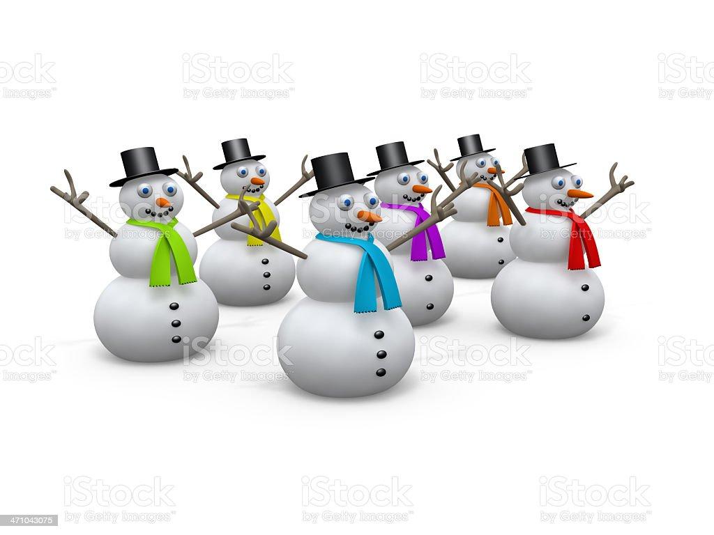 Holidays - Snowmen royalty-free stock photo