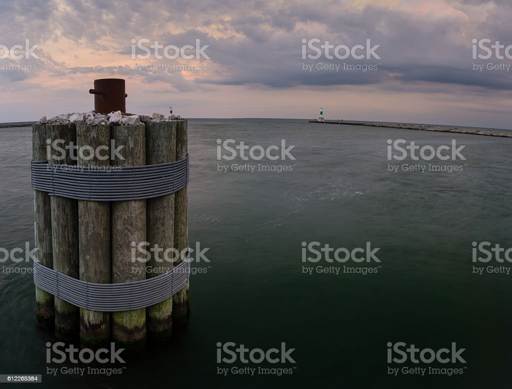 Holland Harbor stock photo