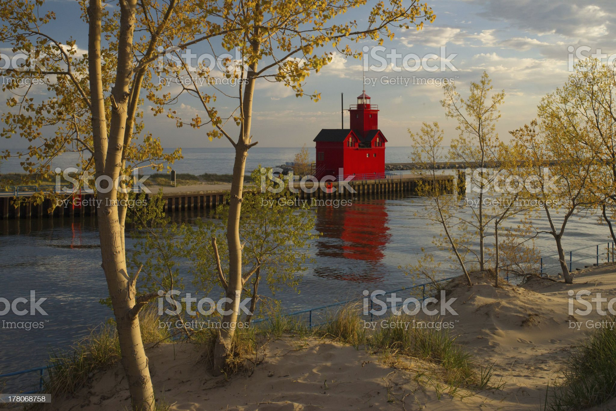 Holland Harbor South Pierhead Lighthouse royalty-free stock photo