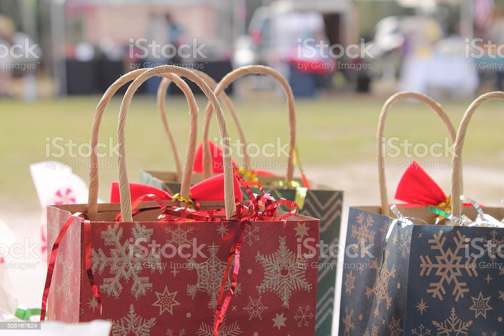 Holliday Gift Bags stock photo