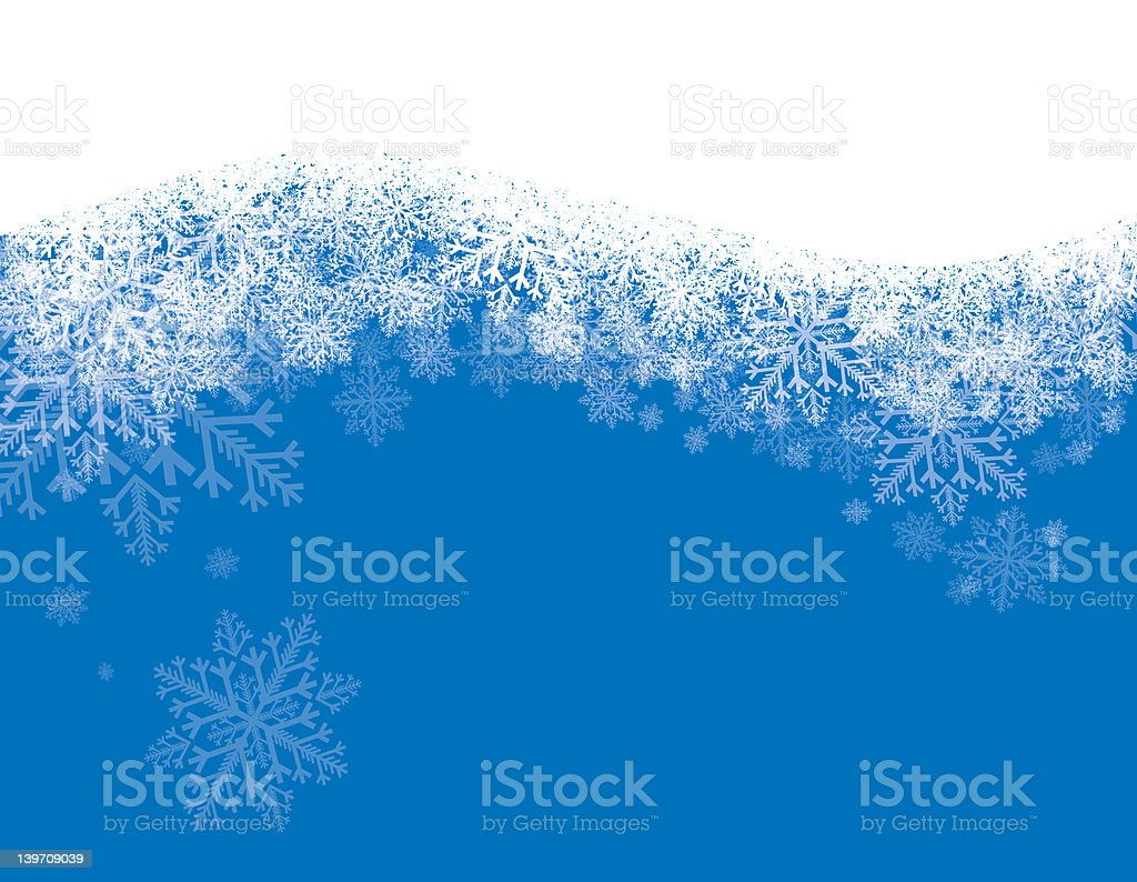 Holliday Snow on Blue stock photo