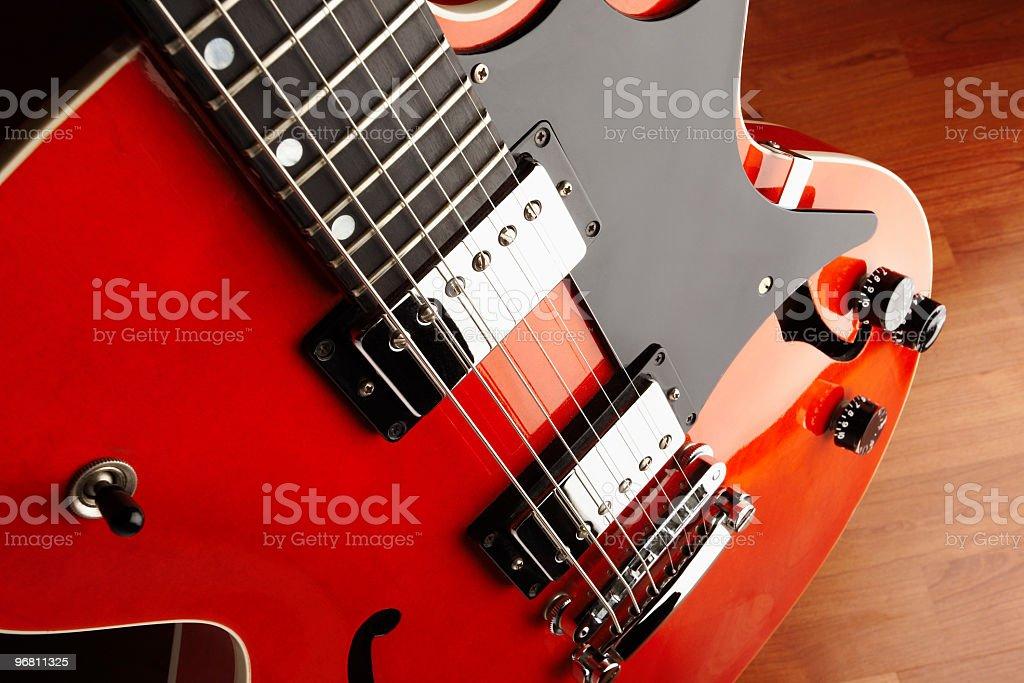 Hollow body guitar stock photo