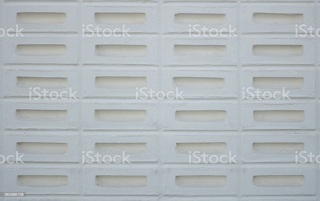 Hollow brick wall background stock photo