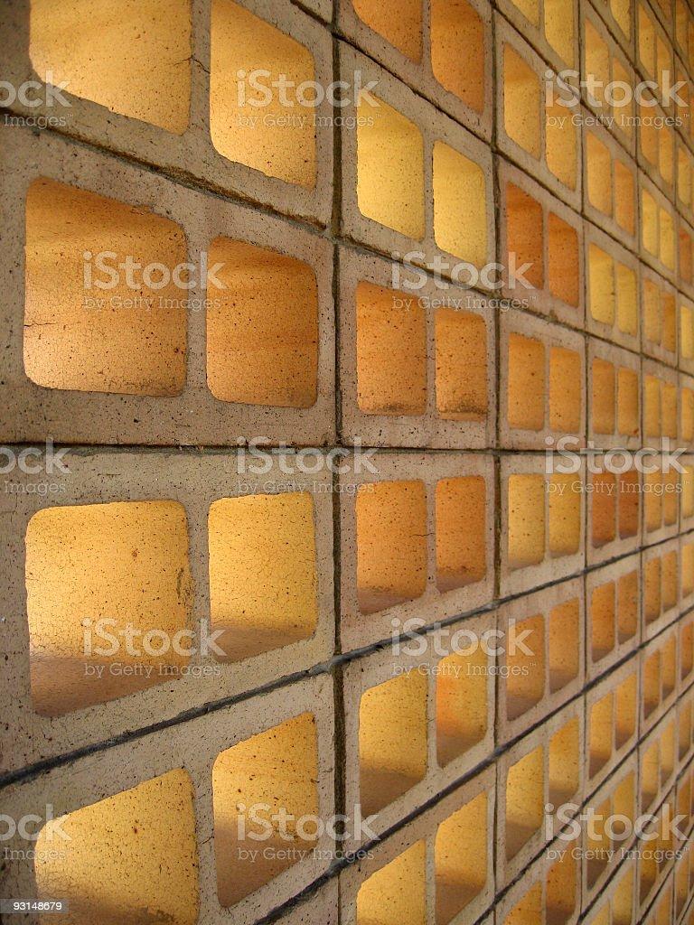 Hollow Bricks royalty-free stock photo