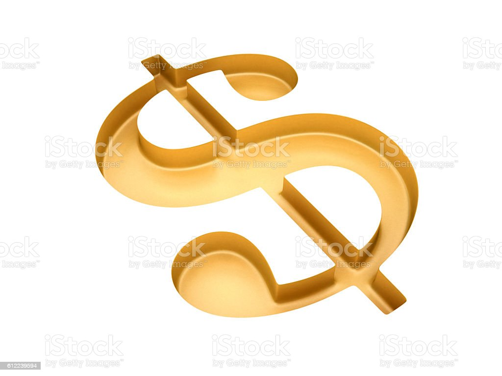 Hollowed dollar sign stock photo