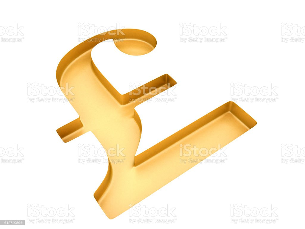 Hollowed pound sign stock photo