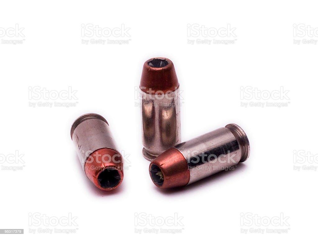 Hollowpoint bullets stock photo
