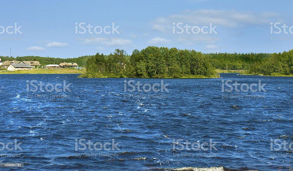 Holly lake on Big Solovki island stock photo
