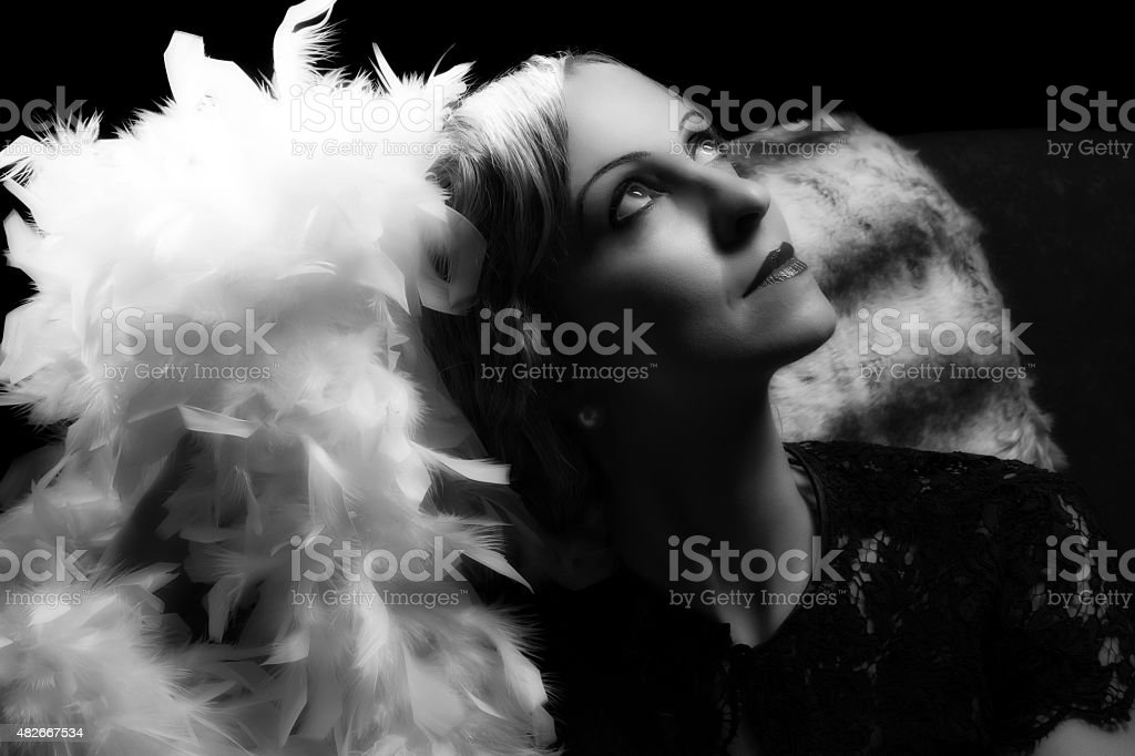 Hollywood actress style stock photo